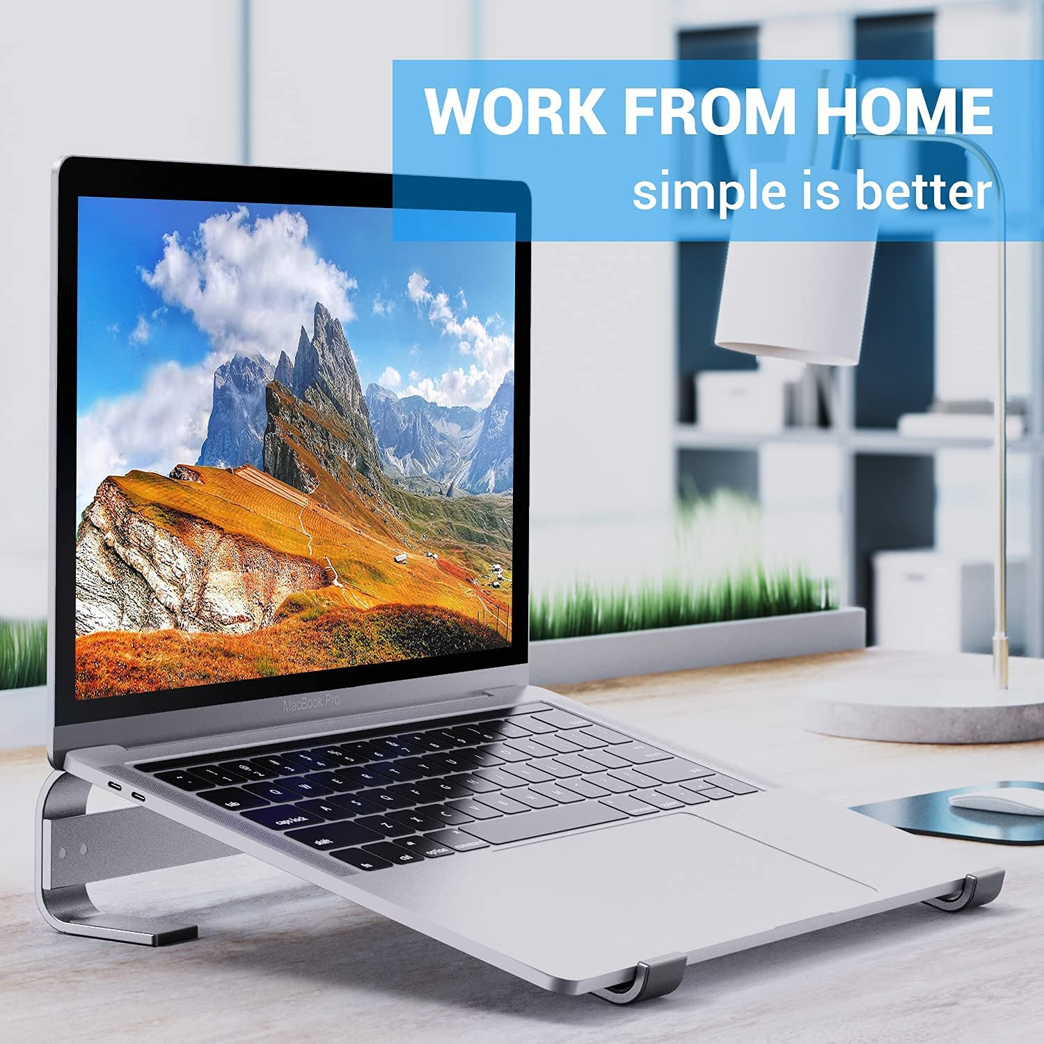 Ohuhu 2 Pack Monitor Stand Riser + Laptop Stand