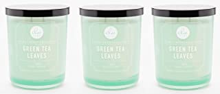 DW Home Green Tea Leaves Candle Small Single Wick Hand Poured from 4 Oz.(Pack.