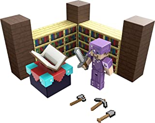 Minecraft Enchanting Room with 3.25-in Steve Figure & Accessories, Storytelling Adventure Play Set, Complete Play in a Bo...