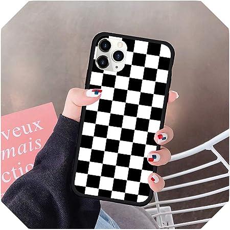Nero Scacchi Slim Cover per iPhone 11 TPU Protettivo Phone Leggero ...