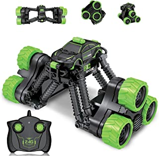 Fistone 2.4G Transform RC Stunt Car, 360 Degree Spinning High Speed Telescopic Remote Control Stunt Car Monster Truck Off-Road Vehicle Hobby Toys for Kids and Adults