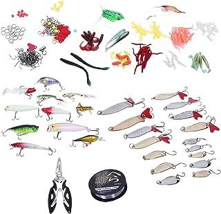 PQZATX 280 Pcs Multi-Function Full Swimming Layer Fishing Bait Mixed Color Plastic Metal Bait