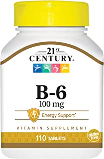 21st Century B-6 100 Mg Tablets, 110 Count (Pack of 2)