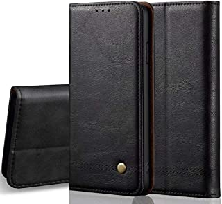 LBYZCASE Case for LG G8X Thinq/LG V50s Thinq,Folding Flip Leather Wallet Shockproof Protective Phone Cover with Card Slots Kickstand and Magnetic Closure for LG G8X ThinQ/LG V50S ThinQ (Black)