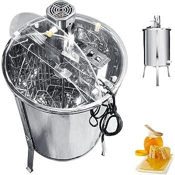 BEAMNOVA Electric Honey Extractor Centrifuge 4 Frame Honeycomb Drum Spinner Stainless Steel