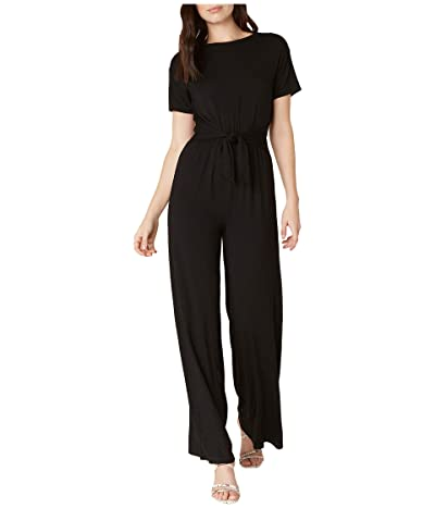BB Dakota Tied Awake Rayon Spandex Tie Front Jumpsuit (Black) Women