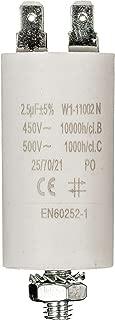 CONDENSADOR PARA MOTOR ELÉCTRICO 2.5µF uF +/-5% 450V A TERMINALES NORMA EN60252–1