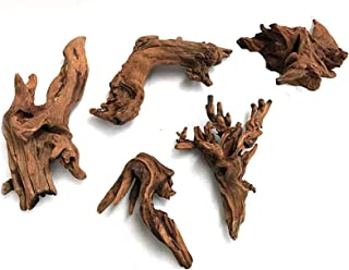 5Pcs Driftwood Branches Aquarium Wood Decoration Natural Fish Tank Habitat Decor Wood for Lizard Assorted Size,Small thumbnail