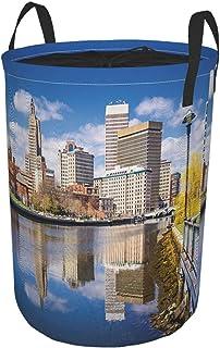 ZOMOY Grand Organiser Paniers pour Vêtements Stockage,États Unis Providence River Print,Panier à Linge en Tissu,Imperméabl...