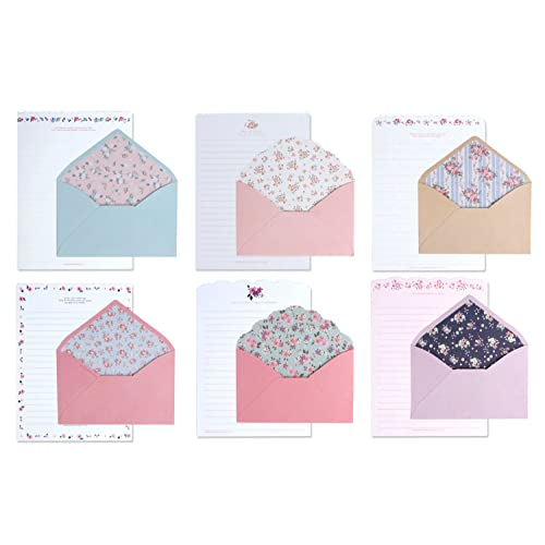 IMagicoo 48 Cute Lovely Writing Stationery Paper Letter Set with 24 Envelope/Envelope Seal Sticker (1)