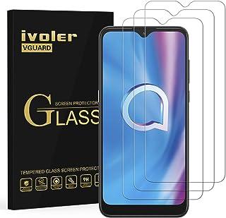 ivoler 3-pack skärmskydd för Alcatel 3L 2020/Alcatel 1S 2020/Alcatel 1V 2020, härdat glasfilm för Alcatel 3L 2020/Alcatel ...