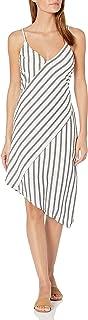 MINKPINK Women's Stripe Linen Asymmetric Slip Dress