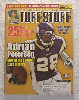 Adrian Peterson - Minnesota Vikings - Tuff Stuff Magazine - February 2008 - The 25 Most Collectible Athletes, Ex-NFL Stars Who Sign for Free