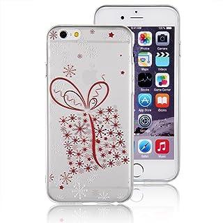 JewelryWe snöflinga presentförpackning presentlåda TPU silikon mobiltelefon fodral skyddsfodral väska skydd skydd fodral f...