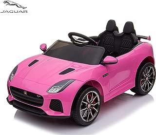 Alison RideOnCar,JaguarF-TypeSVRConvertibleElectricCar,2.4GRemoteControl,MP3MusicPlaying,FrontandRearLights,MaxLoad66LB (Pink)