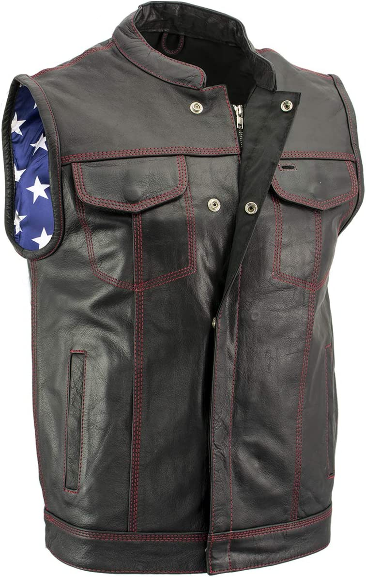 Credence Xelement XS6665 Men's 'Old Glory' Leather with 2021 model Red Vest Stitchin