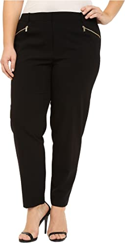 Plus Size Skinny Pants with Zippers