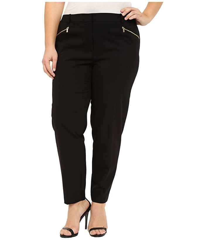 Calvin Klein Plus Plus Size Skinny Pants with Zippers ...