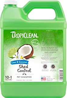 TropiClean Lime & Coconut Shed Control Shampoo for Pets, 1 gal - Helps Reduce Shedding, Made in the USA