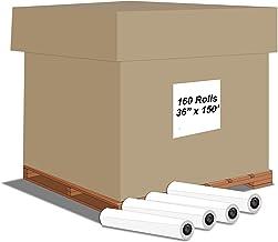 "Alliance CAD Paper Rolls, 36"" x 150', 96 Bright, 20lb - 160 Rolls Per Carton - Ink Jet Bond Rolls with 2"" Core"