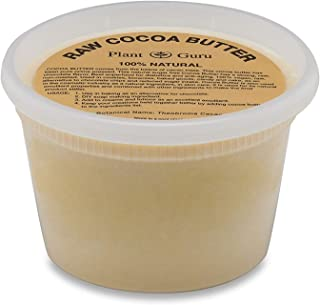 Raw Cocoa Butter 14.5 oz. Pure 100% Unrefined FOOD GRADE Cacao Highest Quality Arriba Nacional Bean, Bulk Rich Chocolate Aroma For Lip Balms, Stretch Marks, DIY Base for Body Butters & Soap Making
