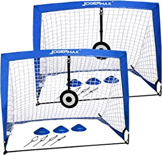 JOGENMAX Portable Soccer Goal, Pop Up Goal Nets with Aim...