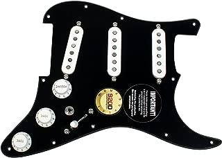 920D Custom Loaded Strat Pickguard Duncan Fender BK/WH SSL-5, '69, Fat 50's