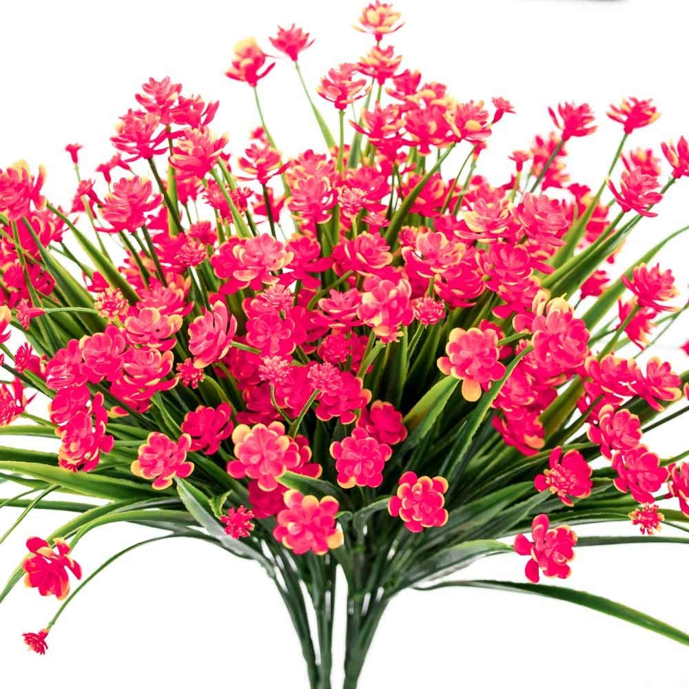 E-HAND Detroit Mall Artificial Daffodils Inventory cleanup selling sale Flowers Red Faux Fake Plant Outdoor