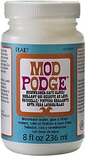 Mod Podge Dishwasher Safe Waterbased Sealer, Glue and Finish (8-Ounce), CS15059 Gloss 3 Pack