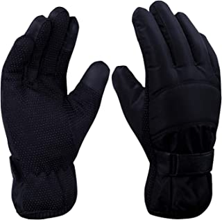 Loritta Mens Winter Windproof Waterproof Warm Ski Running Gloves Adjustable Ear Warmer for Outdoor Activities