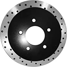 [Rear E-Coat Drilled Brake Rotors Ceramic Pads] Fit 06-09 Nissan 350Z Base