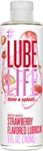 #LubeLife Strawberry Flavored Oral Use Personal Lubricant, 8 oz Sex Lube for Men, Women and Couples