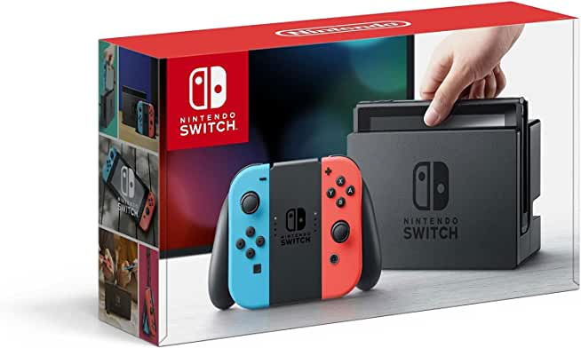 Nintendo Switch 32GB Console with Neon Blue and Neon Red Joy-Con Controllers