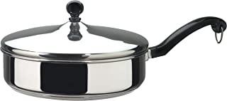 Farberware 50011 Classic Stainless Steel Saute Pan / Frying Pan / Fry Pan with Lid - 2.75 Quart, Silver