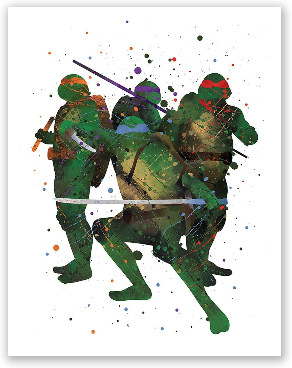 Donatello Teenage Mutant Ninja Turtle Type 1 Wall Art Watercolor Poster UNFRAMED
