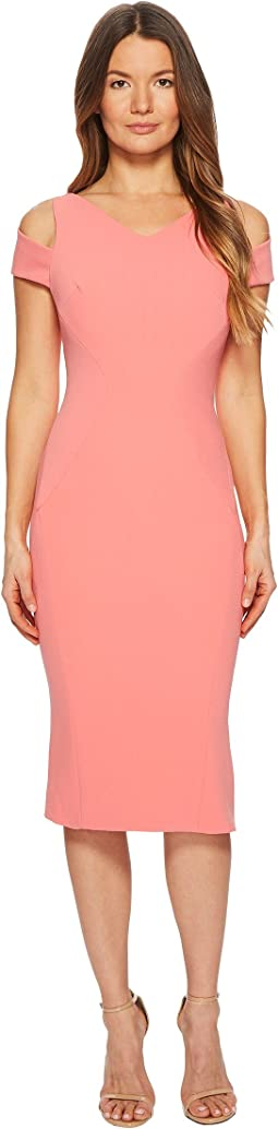 Zac Posen Bonded Crepe Cold Shoulder Cocktail Dress