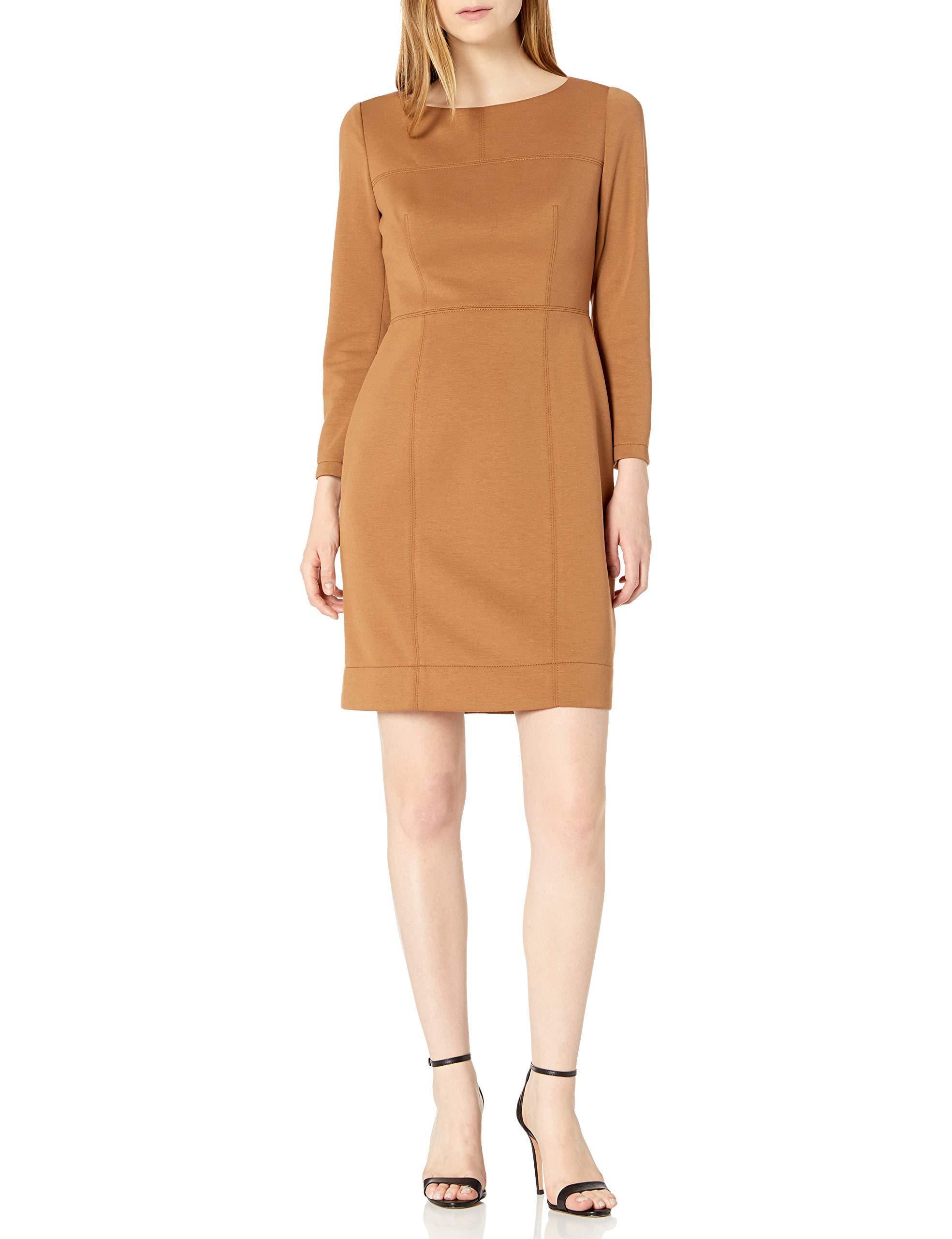 Available at Amazon: Anne Klein Women's Suede Scuba Sheath Dress