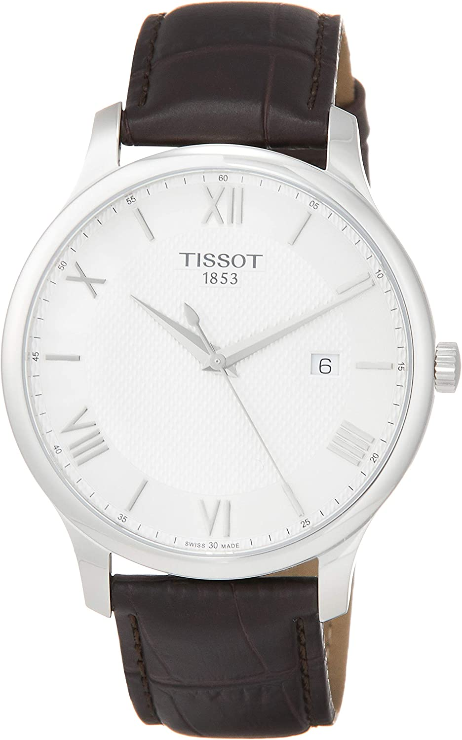 Buy Tissot mens Tradition stainless-steel Dress Watch Brown T0636101603800  Online in Philippines. B00Y4M6O00