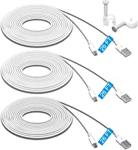 MENEEA 26FT 3 Pack Power Extension Cable Compatible with Wyze Cam Pan, WyzeCam,Kasa Cam,YI Dome Home Camera,Furbo Dog,Nest...