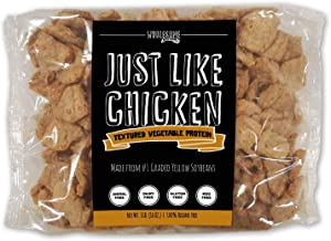 Textured Vegetable Protein (TVP), Vegan Meat Substitute, 100% Hexane Free, Made with #1 Graded Yellow Soybeans, 100% Vegan, Made in USA, Imitation Chicken, Gluten Free, Just Like Chicken, Unflavored