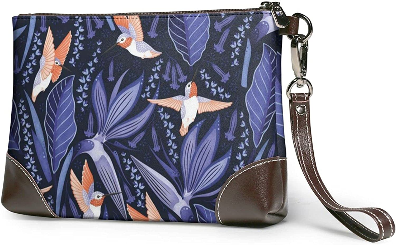 Wallet Beautiful Elephant Printed Ladies Wristband Handbag Leather Clutch 8 X 5.5 X 1.5 Inches