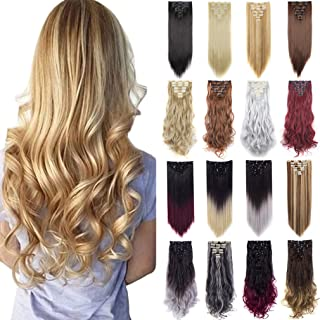 FIRSTLIKE 170g 23-24 Inch Double Weft Thick Clip In Hair Extensions Full Head Wigs