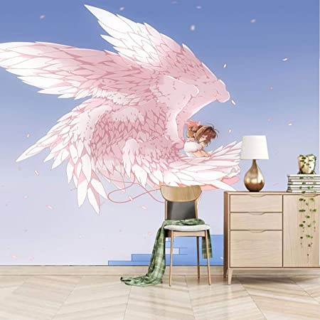 Amazon Com Xiaocha Pink Cartoon Angel Girl 3d Self Adhesive Wall Stickers Wall Murals Peel And Stick Removable Diy Vinyl Wall Murals For Nursery Kids Bedroom Living Room Classroom Decor 132x94 Inches Everything Else