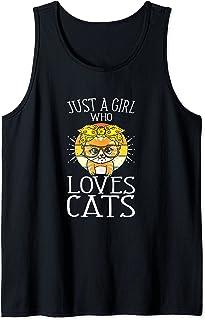 Juste Une Fille Qui Aime Les Chats Chaton Amoureux Des Chats Débardeur