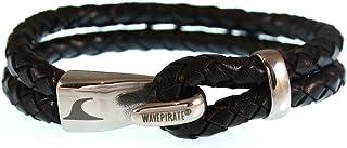 WAVEPIRATE Echt Leder-Armband Peak F Schwarz Herren Männer