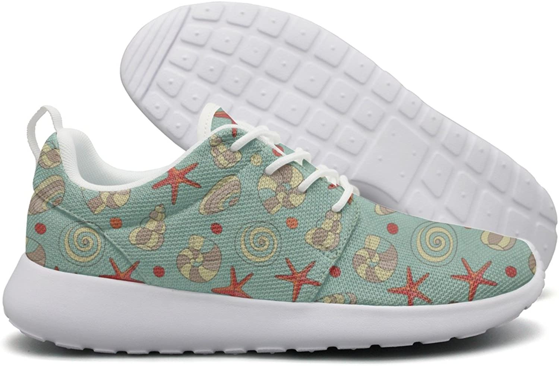 Hoohle Sports Light bluee Shells and Starfish Women Roshe One Flex Mesh Casual shoes Men