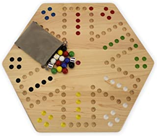 AmishToyBox.com Maple-Wood Hand-Painted Double-Sided Aggravation Game Board, 20