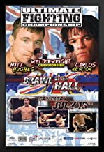 Pyramid America Official UFC 38 Matt Hughes vs Carlos Newton Sports Black Wood Framed Art Poster 14x20