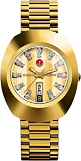 Rado Diastar Men's Gold Dial Metal Band Watch - R12413803