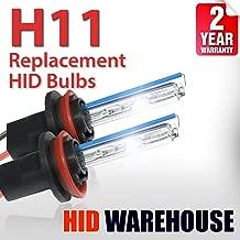 HID-Warehouse AC HID Xenon Replacement Bulbs - H11 8000K - Medium Blue (1 Pair) - 2 Year Warranty